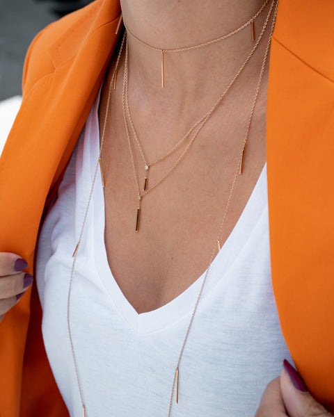 Yellow Gold Necklace with Pendings II