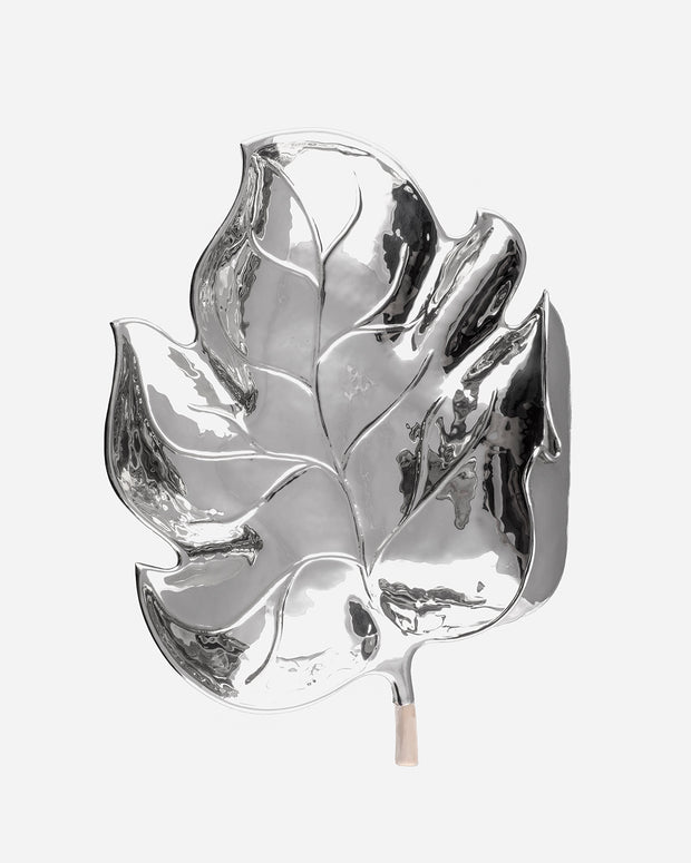 Tree leaf in silver