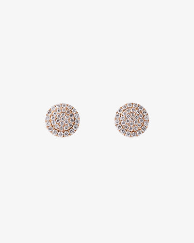 Rose Gold and Diamond Earrings IV