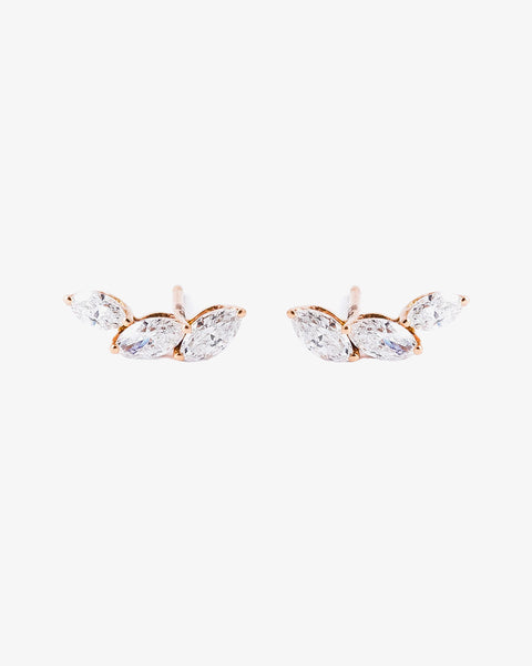 Rose Gold and Diamond Earrings VIII