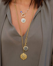 Necklace with Silver Gold Plated Medallion