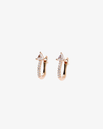 Rose Gold & Diamonds Earrings I