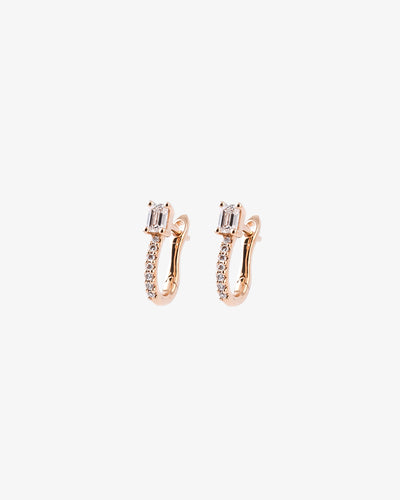Rose Gold & Diamonds Earrings III