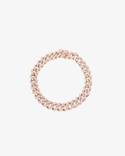 Yellow Gold and Diamonds chain Bracelet