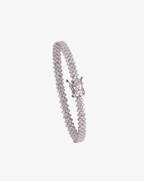 White Gold and Diamonds chain Bracelet