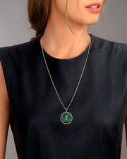 Necklace Malachite Lucky Move - Yellow Gold