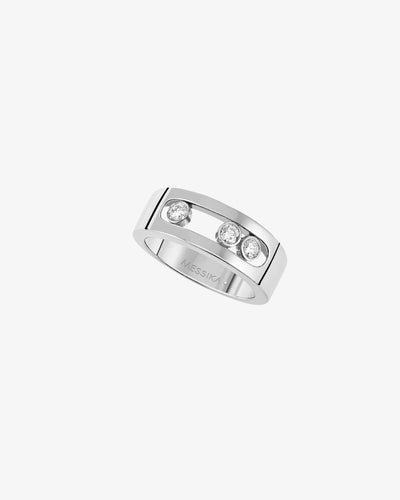 Ring Move Joaillerie Small - White Gold