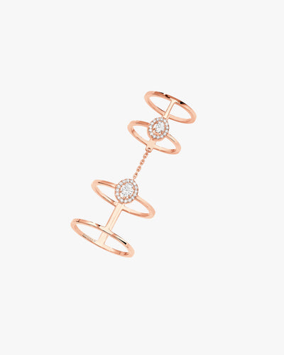 Ring Glam'Azon Double - Pink Gold