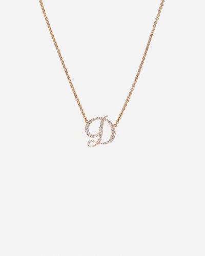 Necklace Letter D