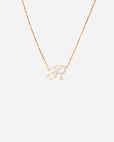 Necklace Letter R