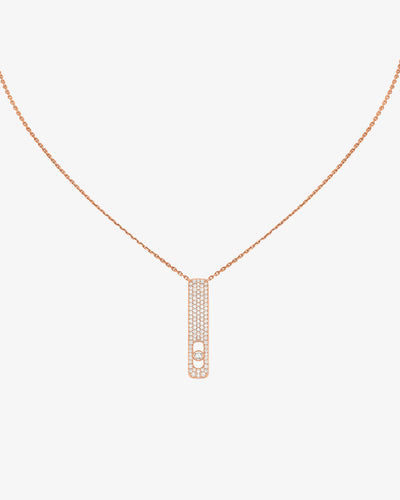 Necklace My First Diamond Pavé - Pink Gold