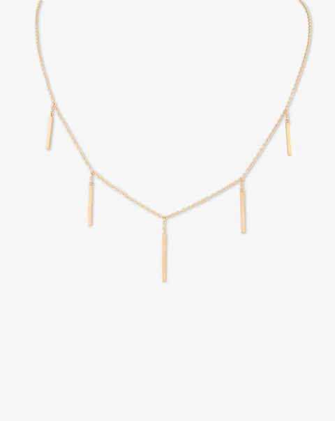 Yellow Gold Necklace with Drops