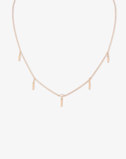 Yellow Gold Necklace with Drops and Diamond