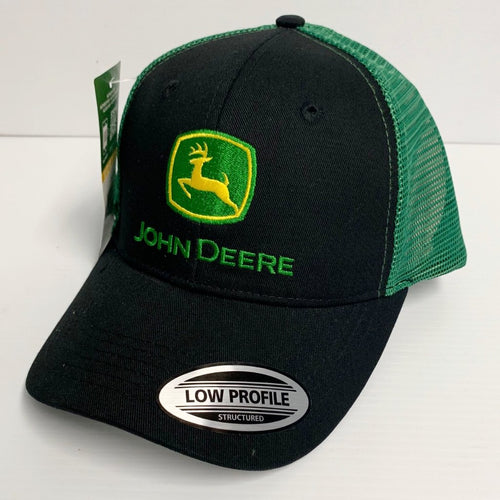 LP69092 John Deere Licensed Black and Green Soft Mesh Hat / Cap