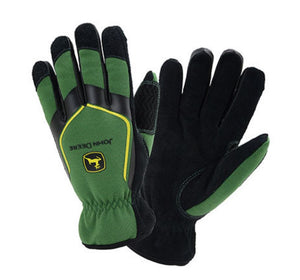 LP68208 John Deere Licensed Slip-On Lined Leather Palm Gloves - Large