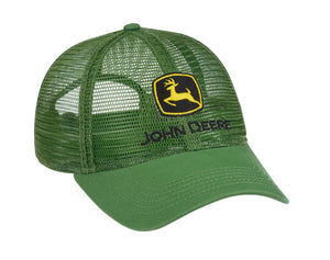 LP69037 John Deere Licensed Green Trucker Soft Mesh Hat / Cap
