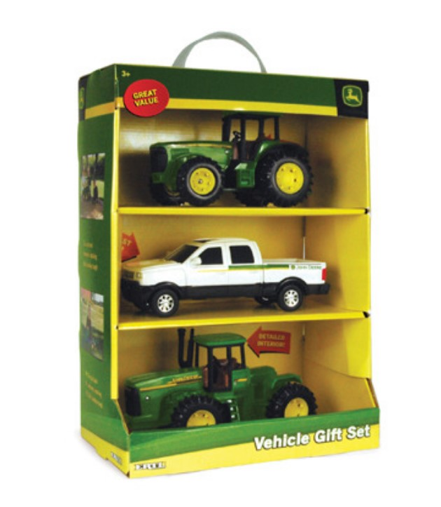 TBEK35865 John Deere ERTL 3-piece 8-inch Vehicle Value Set