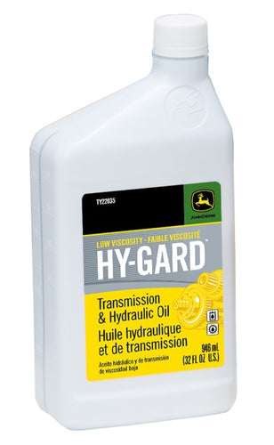 TY22035 John Deere OEM Low Viscosity Hy-Gard Hydraulic Oil - Quart