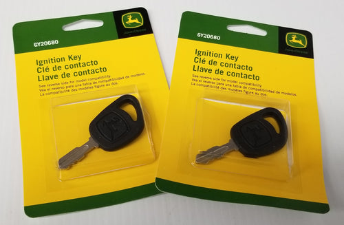 GY20680 John Deere OEM Lawn Mower Ignition Key - Set of 2