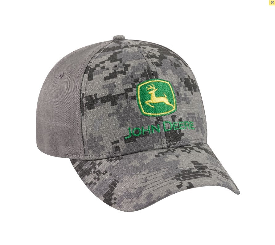 LP69116 John Deere Licensed Charcoal Digi Camo Hat / Cap