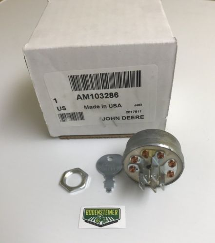 John Deere OEM Ignition Switch With Key AM103286