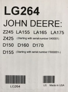 LG264 John Deere OEM Home Maintenance Kit