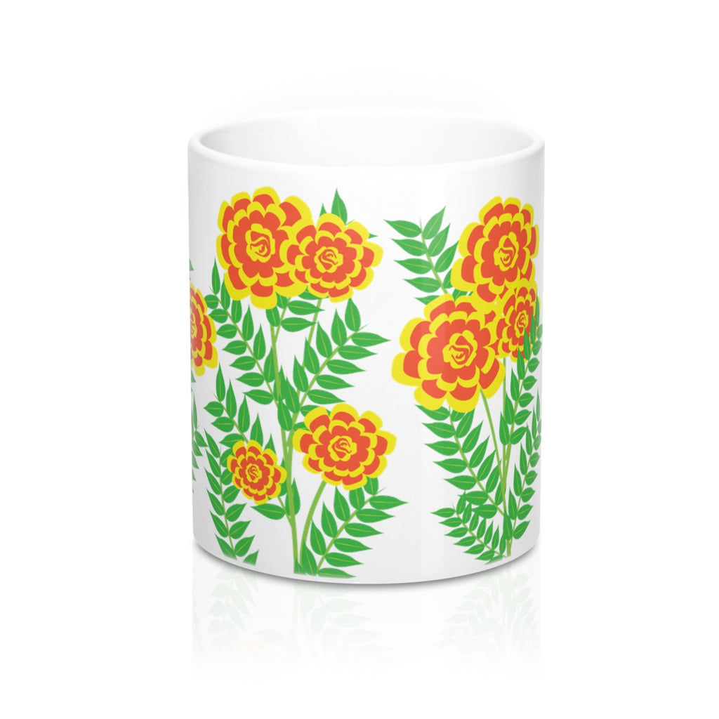 Marigold Flowers Coffee Mug
