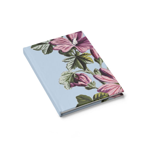 Common Mallow (Malva sylvestris) Botanical Illustration Journal - Ruled Line