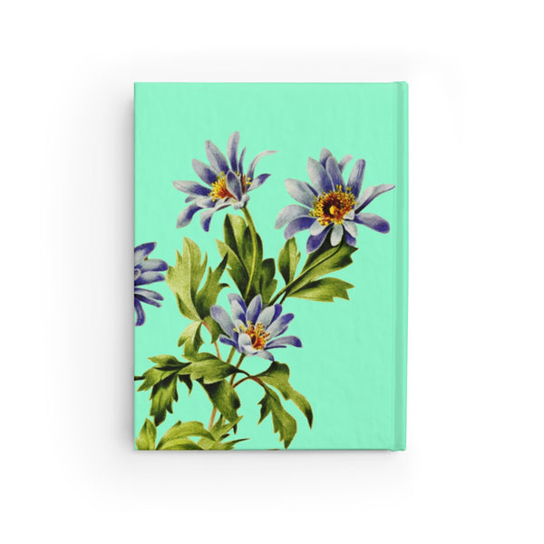 "Wood Anemone (Anemone nemorosa ""Robinsoniana"") Botanical Illustration Journal - Ruled Line"