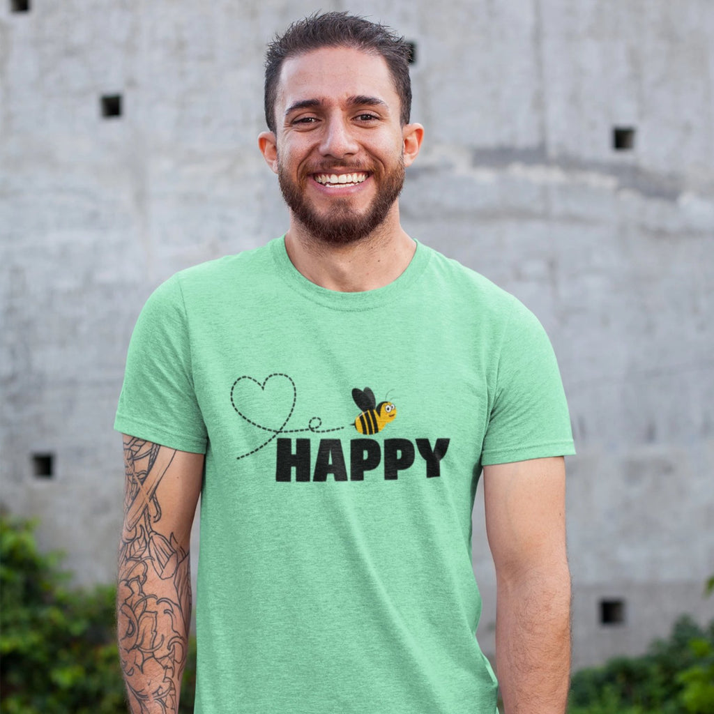 bee be happy shirt man