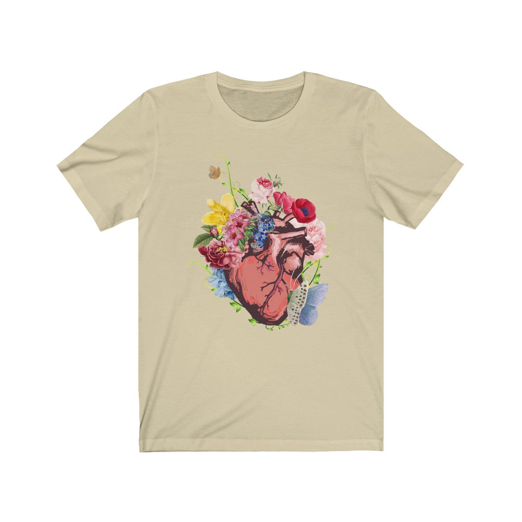 Heart, Flowers and Butterflies T Shirt