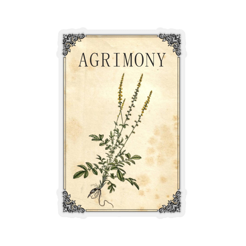 Agrimony Herb Labels - Vintage Spice & Herb Label Stickers