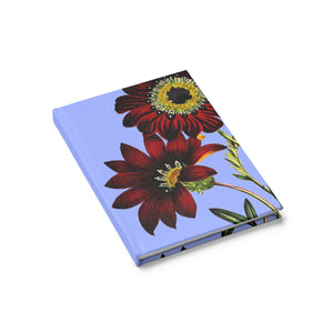 Gazania Spp. Botanical Illustration Journal Ruled Line