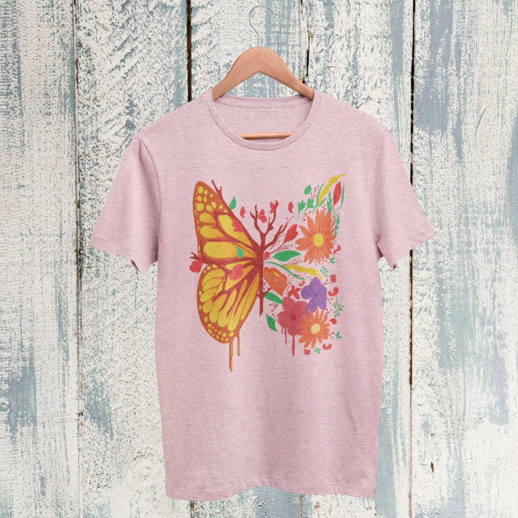 floral butterfly t shirt