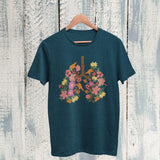 floral flower lungs t shirt