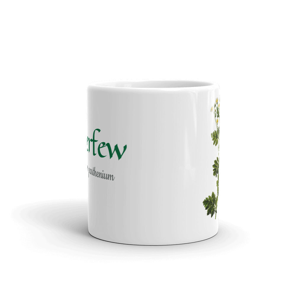 Fewerfew (Tanacetum parthenium) Botanical Art Ceramic Mug