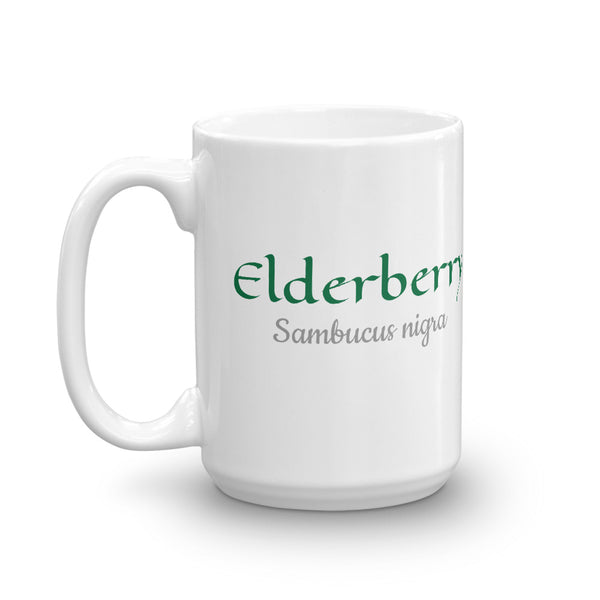 Elderberry (Sambucus nigra) Botanical Art Ceramic Mug