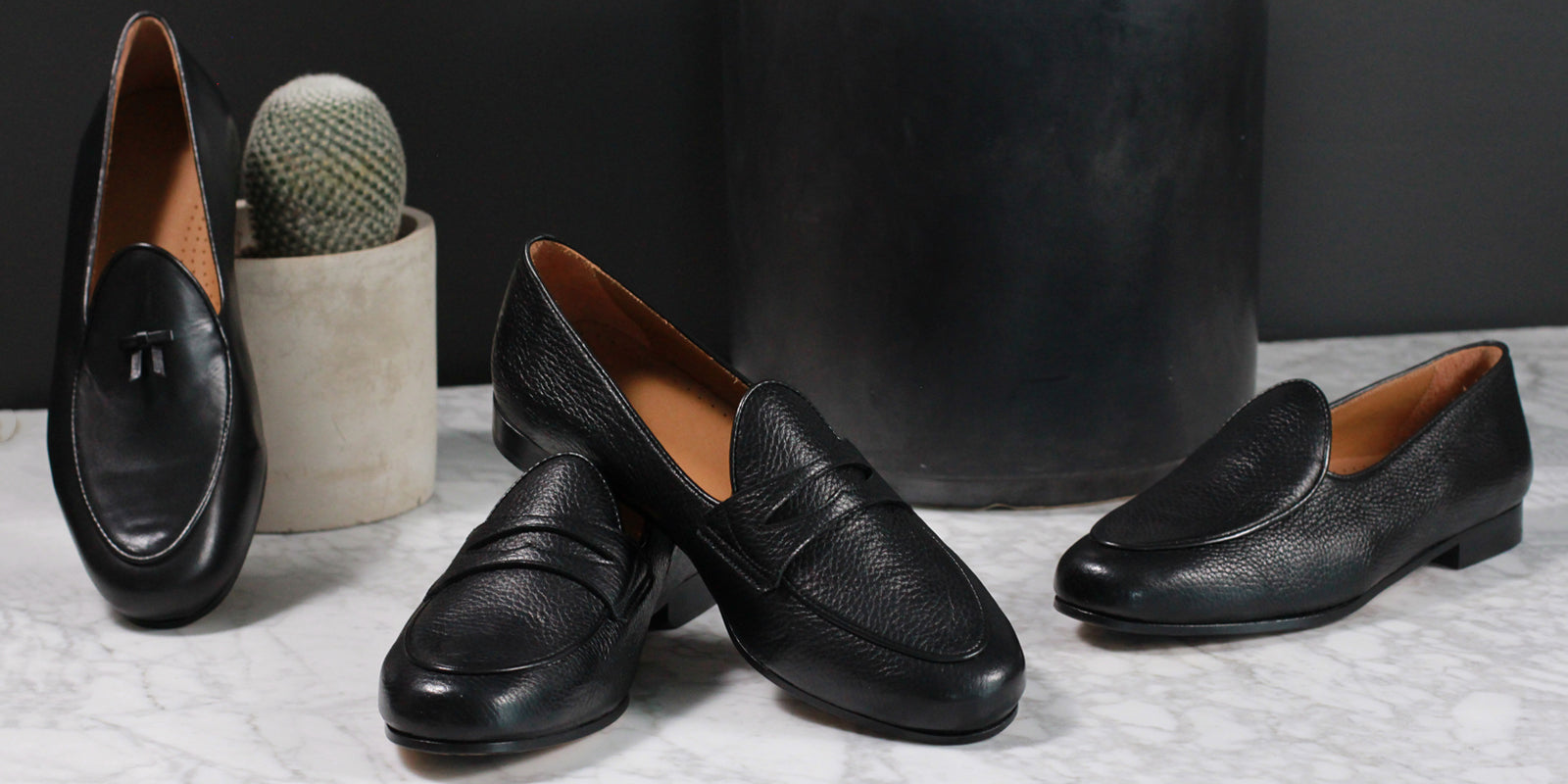 BOMBEROS Black Belgian Penny Loafer Collection