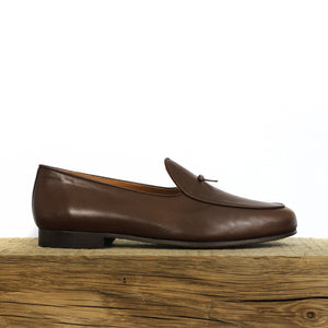 BOMBEROS Mens Brown Santander Gran Belgian Loafers 1