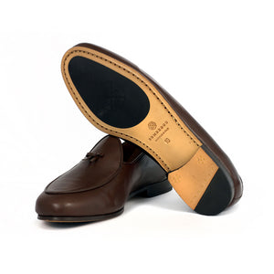 BOMBEROS Mens Brown Santander Gran Belgian Loafers 3