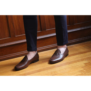 BOMBEROS Mens Brown Santander Gran Belgian Loafers 4