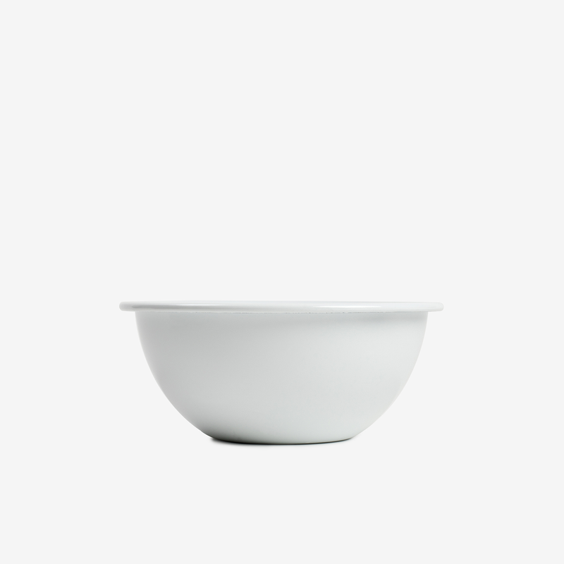 White Enamel Bowl - 16cm - Enamelware - Hunter Studio - New Zealand Lifestyle Store