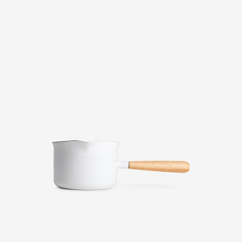 White Enamel Gravy Maker - Enamelware - Hunter Studio - New Zealand Lifestyle Store