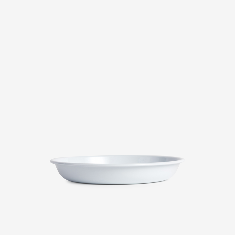 White Enamel Shallow Pasta Plate - 24cm - Enamelware - Hunter Studio - New Zealand Lifestyle Store