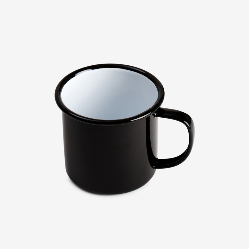 Black Enamel Mug - Enamelware - Hunter Studio - New Zealand Lifestyle Store