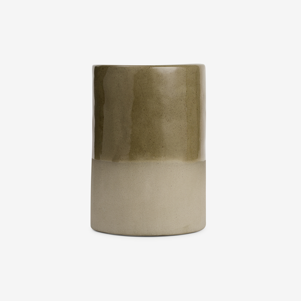 JS Ceramics Vase/Utensil Holder in Sage - Tableware - Hunter Studio - New Zealand Lifestyle Store