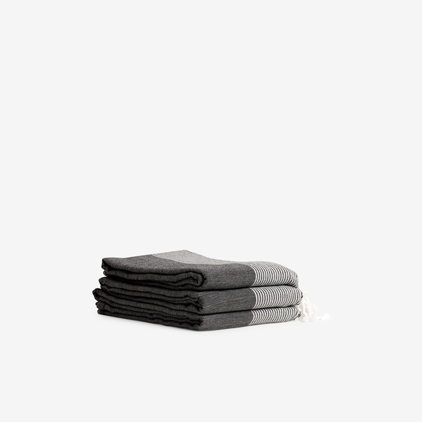 Ottoloom Organic Turkish Towel in Charcoal - Outdoor - Hunter Studio - New Zealand Lifestyle Store