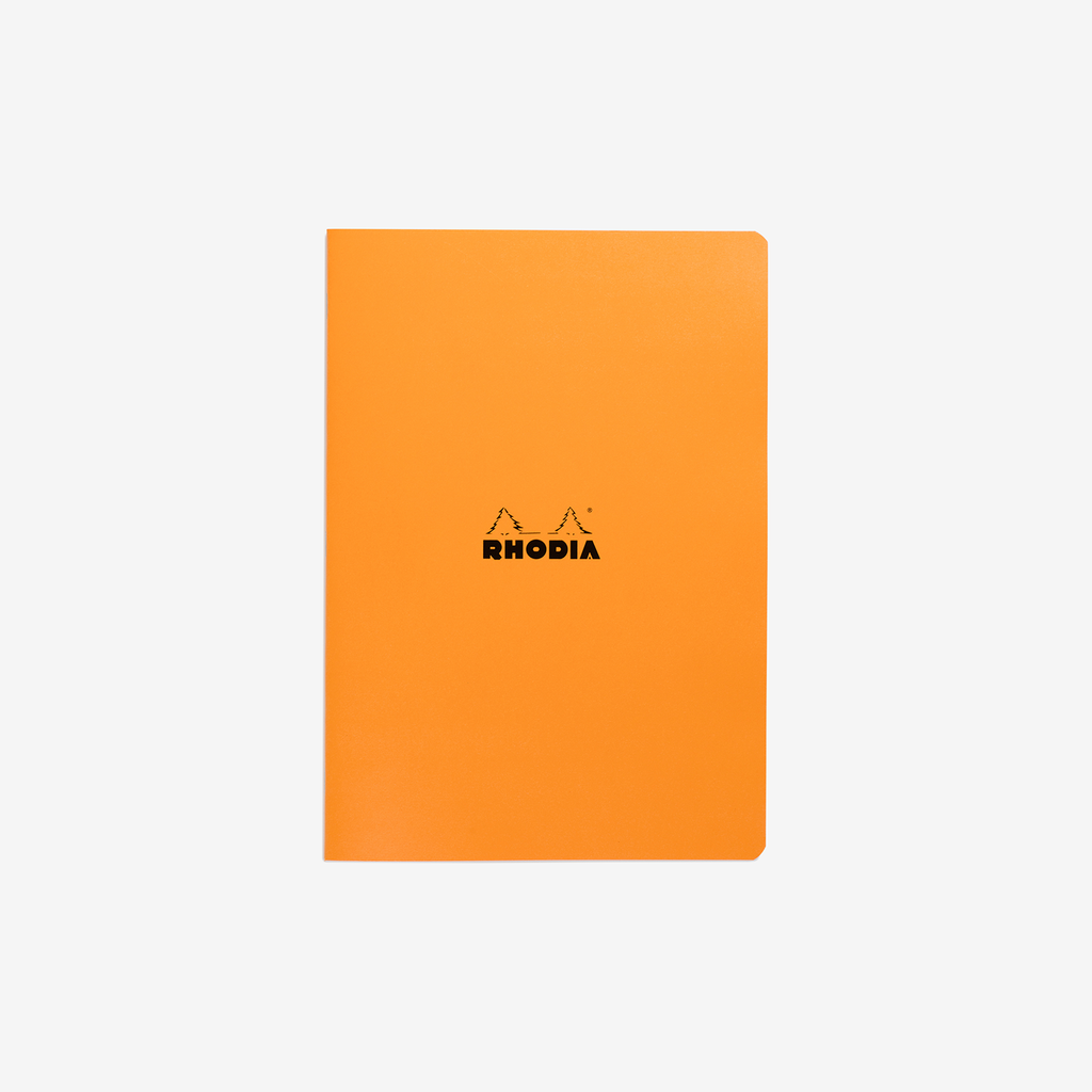 Rhodia Classic Stapled Cahier – A4 Orange Lined