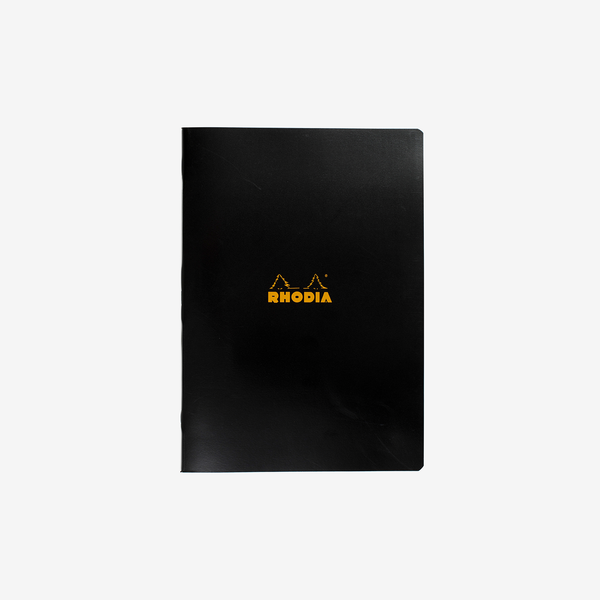Rhodia Classic Stapled Cahier – A4 Black Lined - Stationary - Hunter Studio - New Zealand Lifestyle Store