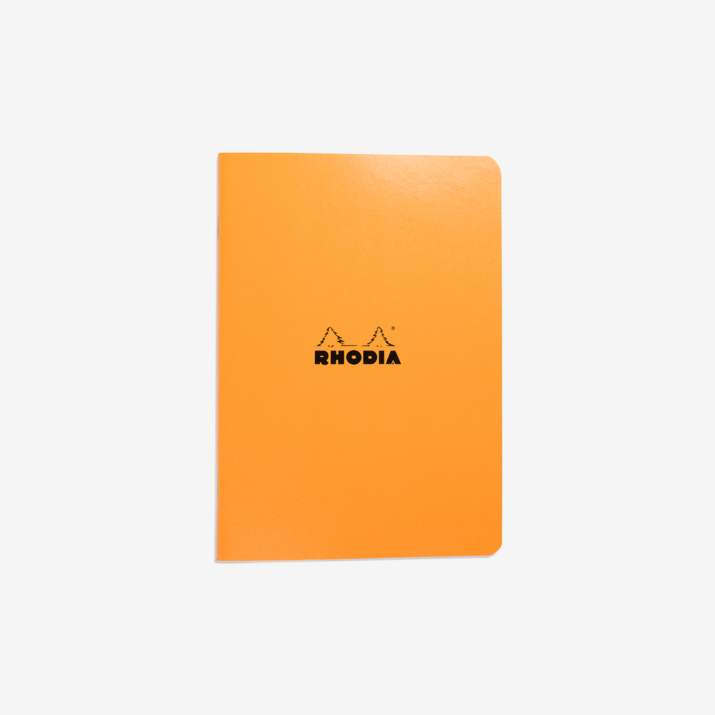 Rhodia Classic Stapled Cahier – A5 Orange Lined